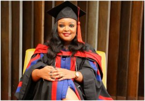 Former NTV anchor Lizz Ntonjira conferred with another degree in UK