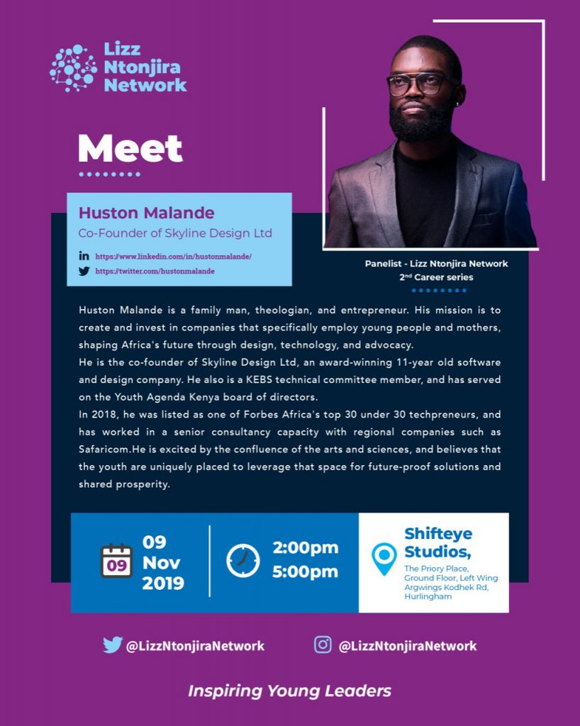 Meet @hustonmalande, a @forbesafrica top 30 under 30 recognized entrepreneur who will be a panelist in the upcoming #LNNetwork