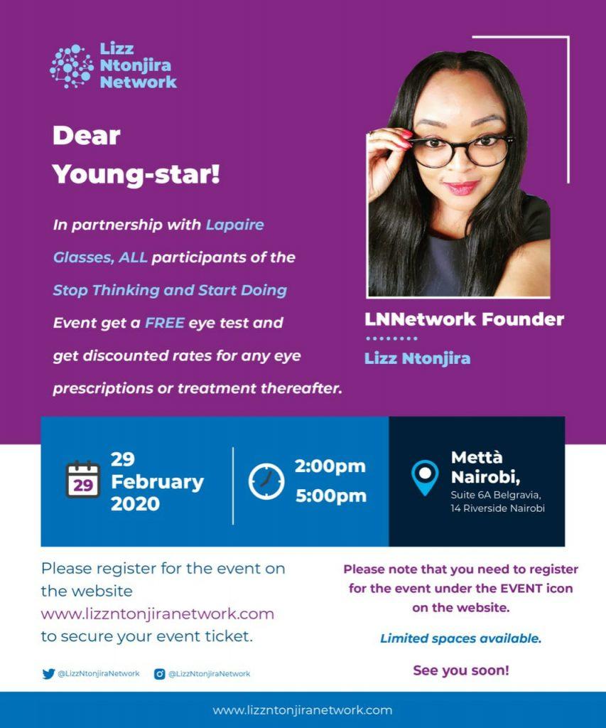 Lizz Ntonjira Network - Stop Thinking & Start Doing Event